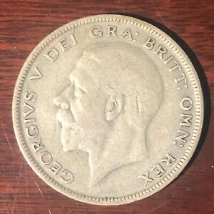 1931 King George V Silver Half Crown Coin