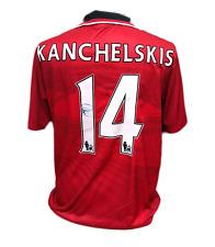 ANDREI KANCHELSKIS SIGNED MANCHESTER UNITED 14 FOOTBALL SHIRT COA & PROOF