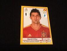 #304 David Silva España Panini Euro 2012 Edición Platino Pegatina Barcelona