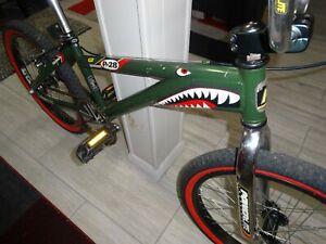 """90's GT Powerlite P28 Intruder Warhawk Series 20"""" Bmx Bike army green Vintage"""
