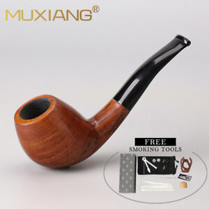 Rosewood Tobacco Pipe Short Stem For Smoking Pipe 3mm Metal Filters Wooden Pipes