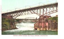 VIntage Postcard-Monroe Street Bridge and Falls, Spokane, WA