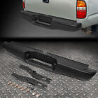 For 95-04 Toyota Tacoma Black Coated Steel Rear Step Bumper Face Bar Assembly