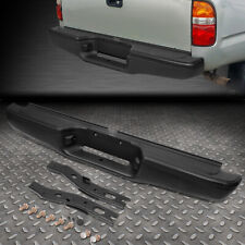 FOR 95-04 TOYOTA TACOMA STAINLESS STEEL REAR STEP BUMPER FACE BAR PRIMED BLACK