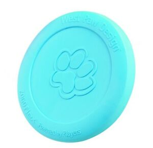 West Paw Mini Zisc | 16 cm Aqua Apportierspielzeug Frisbee für Hunde