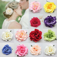 Artificial Rose Flower Hair Clip Brooch Hairpin Bridal Wedding Beauty Headdress