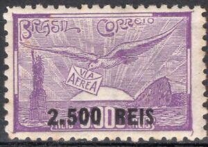 BRAZIL 1931 AIR MAIL STAMP Sc. # C 28 MH