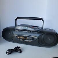 1993 SANYO MCD-Z43 BassXpander Stereo Cassette Radio Boom Box Tested Works