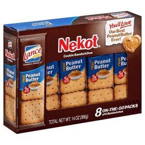 Lance Nekot Cookie Sandwiches Peanut Butter