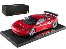 HOTWHEELS SUPER ELITE X5491 1:18 FERRARI 458 ITALIA GT2 LAUNCH VER DIECAST RED