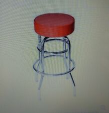 4 Red Vinyl Bar Stool, Backless, Attco, ACS-2A, restaurant, man cave, kitchen