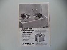 advertising Pubblicità 1968 TELEVISORE VOXSON SPRINT  11 POLLICI