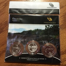 2014 Everglades NWR Three-Coin 3-Coin Set America Mint Set P91 ATB Quarter
