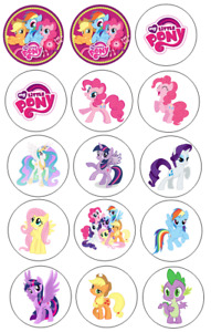 """15 x 2"""" Pre-cut icing Pony's cupcake toppers,peel & easy to use"""