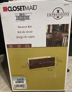 Closetmaid Impressions Wide Drawer Organizer Kit 30610 Dark Cherry