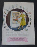 Original Magazine Print Ad 1947 WESTINGHOUSE Every House Needs  Vintage Art