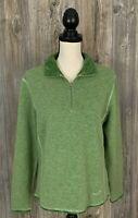"""KUHL """"Chianti Fleece~1/4 Zip Pullover~Women's Large~Heather Green~Wool Blend"""