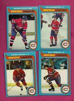 1979-80 TOPPS CANADIENS MONDOU + LAPOINTE + HOULE + RISEBROUGH  CARD (INV# A949)