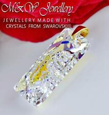 GOLD PLATED 925 SILVER PENDANT CRYSTALS FROM SWAROVSKI® GROWING RECTAGLE