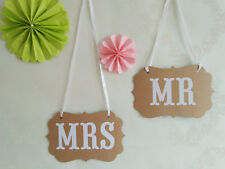 Mr and Mrs Chair Signs Photo Booth Props Photobooth Wedding Decorations brown