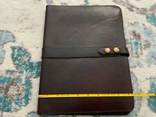 Vintage King Ranch Leather 8.5x11 Pad Notebook Holder with Paper NICE