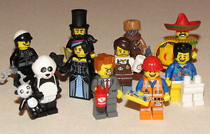 THE LEGO MOVIE 10 CHARACTER EMMET PRESIDENT BUSINESS BAD COP WILD STYLE MINIFIG