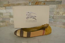 orig BURBERRY  Gr 35 Ballerinas Slipper Halbschuhe Schuhe shoes gold neu