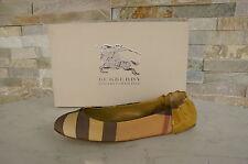 orig BURBERRY  Gr 35 Ballerinas Slipper Halbschuhe Schuhe shoes gold neu