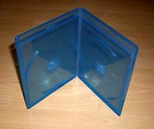Blu Ray Hülle 2fach Doppelhülle zweifach 2-fach blau Slim extra schmal 5mm Neu