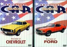 AMERICAN MUSCLE CAR: Best of Ford & Chevrolet - NEW 2 DVD