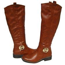 New Women's Riding Boots Cognac Shoes Fur Lined Winter Snow Ladies size 7