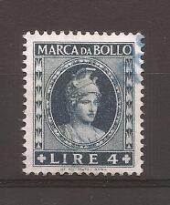 1959 REPUBBLICA MARCA DA L. 4 ANNULLATA CON TIMBRO 1960 PERFETTA