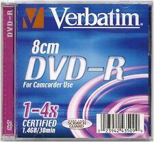 LOT de 2 x VERBATIM - DVD-R 8 CM  4X - 1.4GB/30min