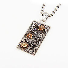 & Copper Combination Pendant gb-154 Japanese Cloud Dog Tag Sterling Silver