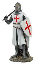 Crusader Knight in Full Shield and Sword Armor Collectible Figurine 11.5 Inches