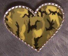 Pewter Belt Buckle Desert Camouflage Heart NEW