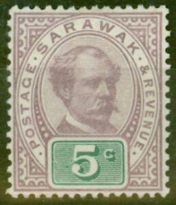 Sarawak 1891 5c Purple & Green SG12 Fine & Fresh Lightly Mtd Mint