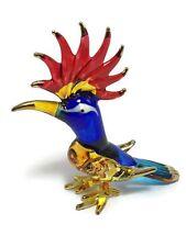 TINY CRYSTAL Woodpecker HAND BLOWN CLEAR GLASS Bird Woodpecker FIGURINE ANIMAL