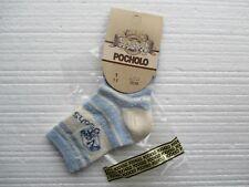 Nuevo 2 pares de calcetines de Pocholo Diseñador Luz Y Azul Oscuro Jeans Eur Talla 22/24 Nuevo