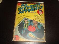 MR DISTRICT ATTORNEY #2 Golden Age Pre-Code Crime  DC Comics 1948 Fa/Gd