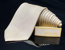 Michael Kors NEW Cream Solid Professional  Classic Mens Silk Necktie