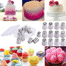 12PCS Russian Stainless Nozzles Tips Cake Decorating Pastry Baking Tools w/ Box