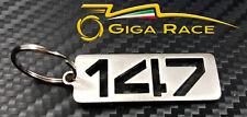 ALFA ROMEO 147 PORTACHIAVI AUTO PORTA CHIAVE CHIAVI ANELLO CIONDOLO ACCIAIO
