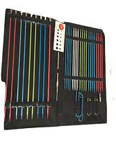 Lot- Boye Needle Kit, Latch Hooks (2), Knitting Needles, Crochet Needle (2)