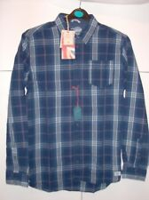 PEPE JEANS MENS BLUE LONG SLEEVED CHECK SHIRT UK SZ  SMALL NEW
