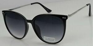 Tommy Hilfiger BELLATRIX WP Women's Black/Silver Frame Grey Lens Sunglasses NEW