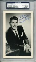 RONALD REAGAN SIGNED PHOTO (3.5 X 5.5 inches), ENCAPSULATED, PSA/DNA #:83938815