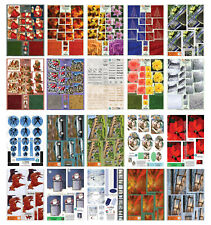 Bumper bargain cardmaking kit 20 A4 die cut decoupage sheets paper craft set #1