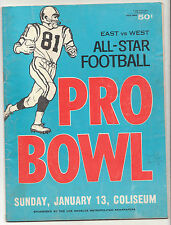 1/13 1963 EAST WEST ALL STAR PRO BOWL PROGRAM LOS ANGELES COLISEUM RARE
