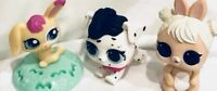 Littlest Pet Shop LPS Figure Dalmatian Dog Black Eyes Gifts Toy Rare Happy Meal